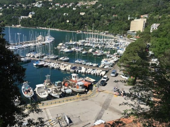 Vista del porto dal castello di Miramare