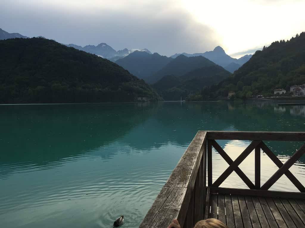 Vista sul lago di Barcis
