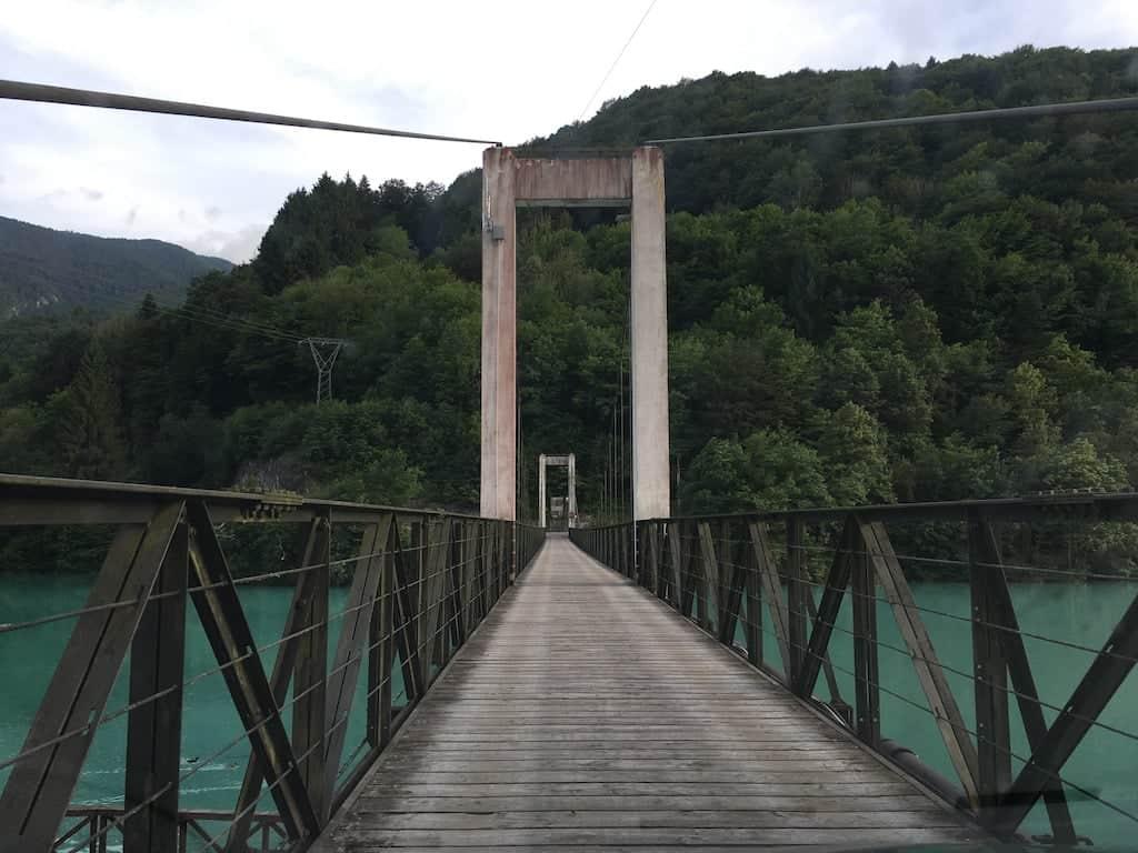 Ponte sul lago di Barcis