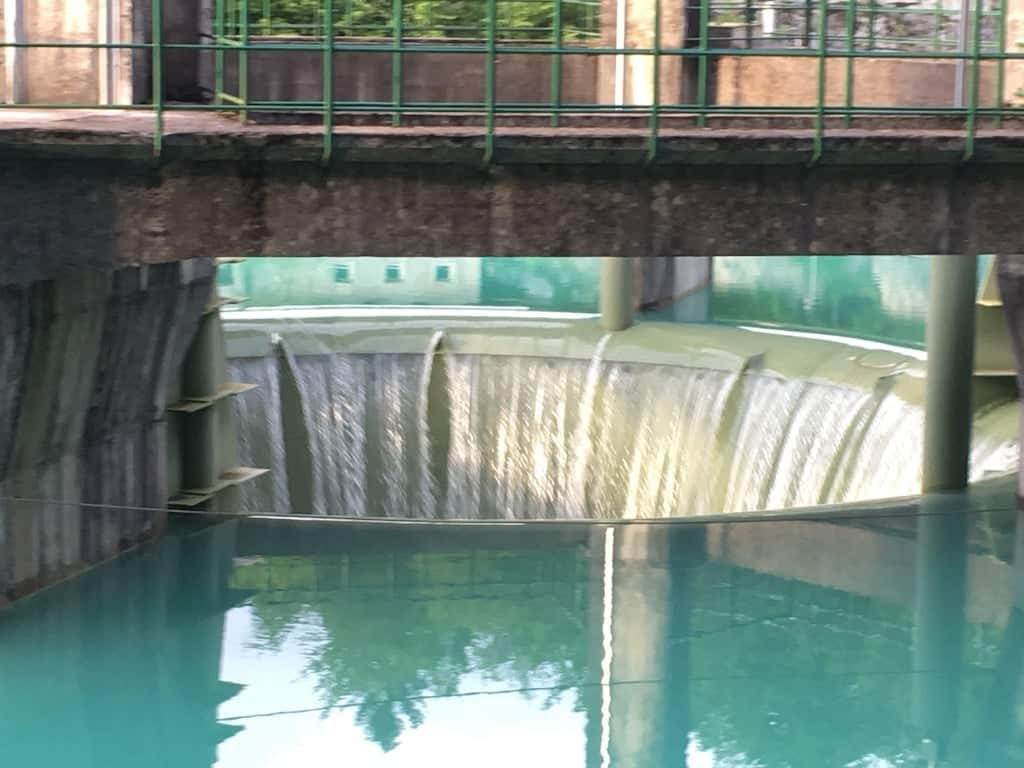 cascata del lago di Barcis