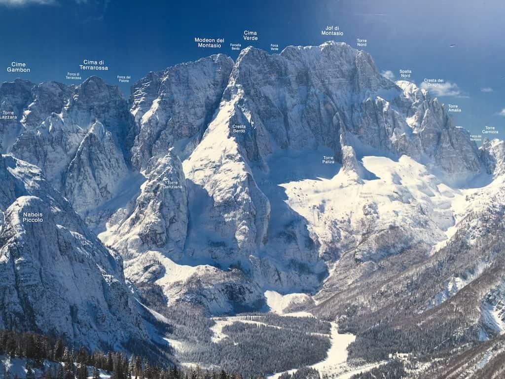 Montagne vicino al Monte Lussari