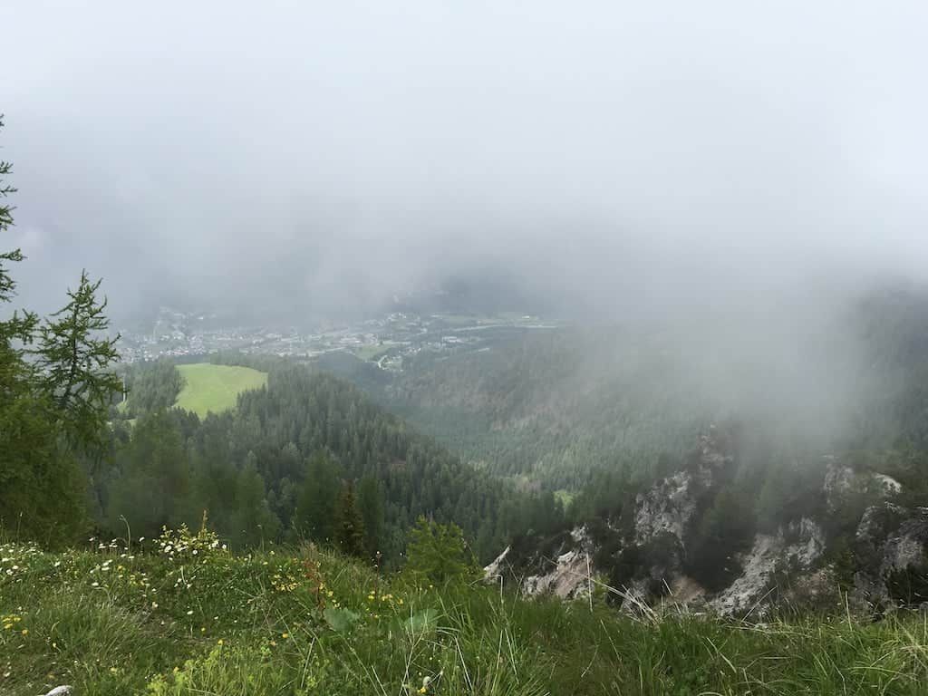 Monte Lussari con la nebbia