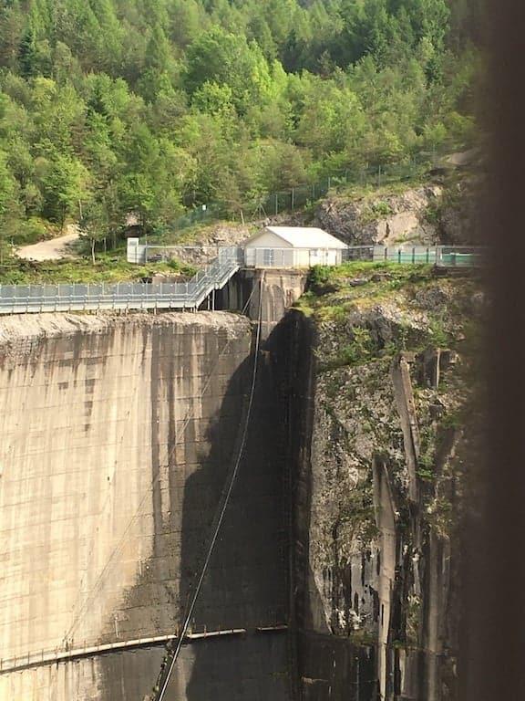 La diga del Vajont oggi , 2016