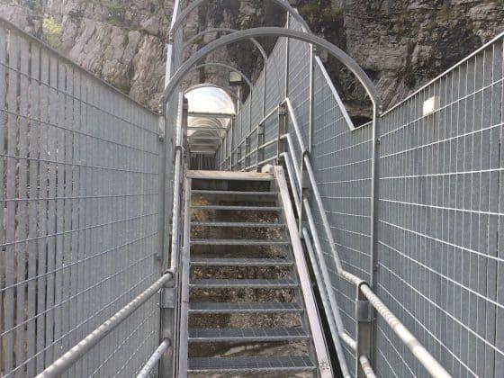 percorso sulla diga del vajont