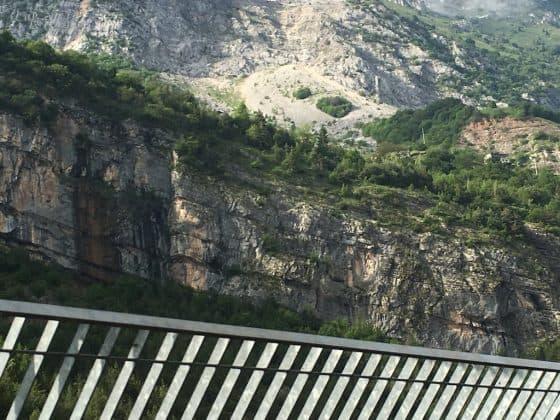 vista dalla diga del Vajont
