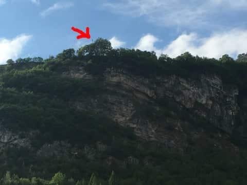 l'altezza del muro di acqua vajont