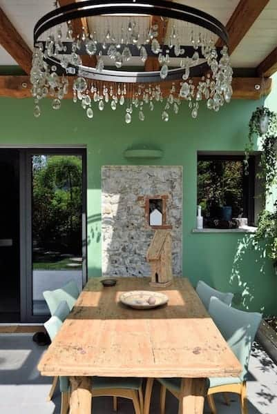Tavolo in giardino Bed and Breakfast Trecuori