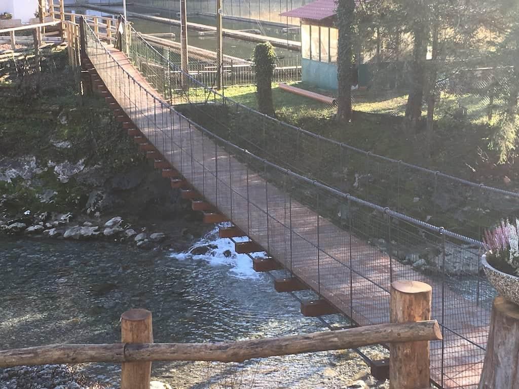 Il ponte dell' Agriturismo Péstrofa
