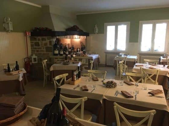 Sala da pranzo del ristorante vineria Vencò