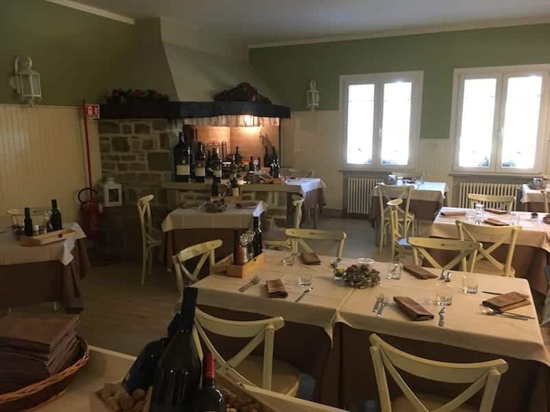 Matsal på Vencò-restaurangen