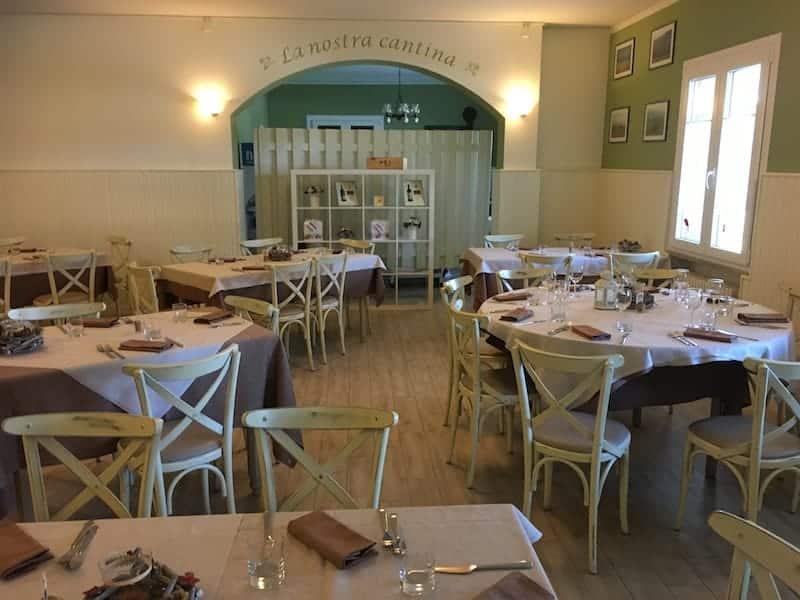 Ett av rummen på restaurangen Vineria Vencò