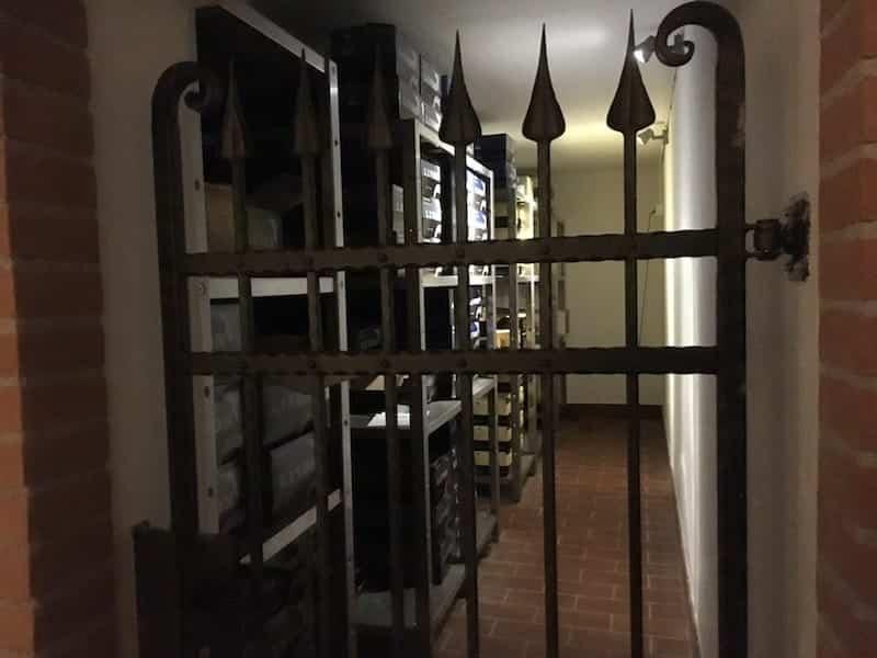 Bevarande rum av historiska flaskor