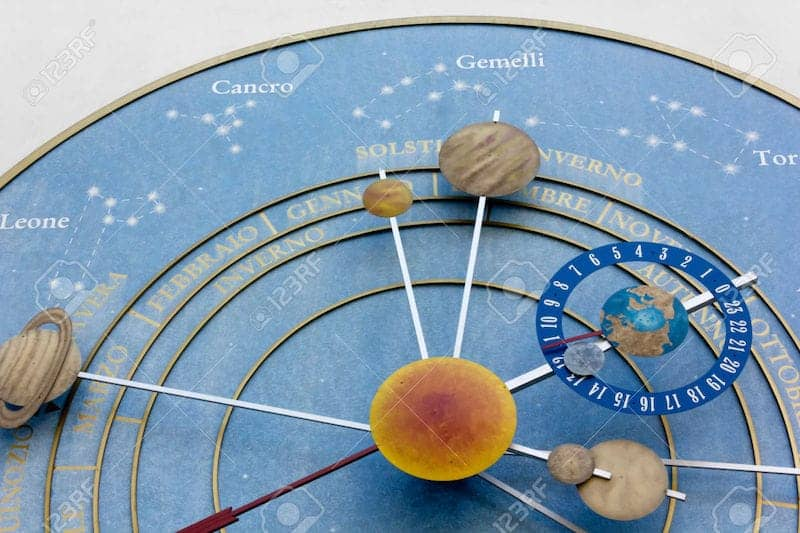 Orologio dei pianeti Paesariis