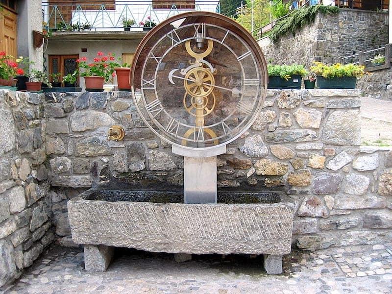 Orologio ad acqua a vasi basculanti Paesariis