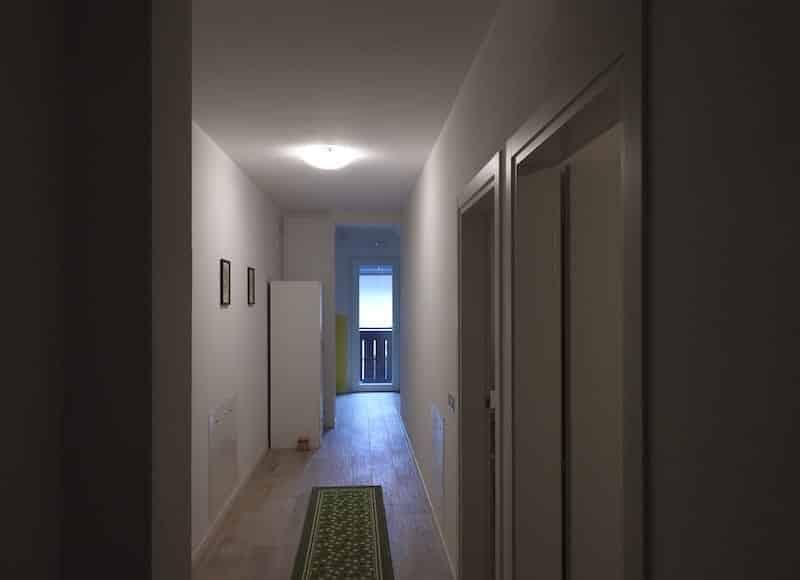Corridoio fra appartamenti