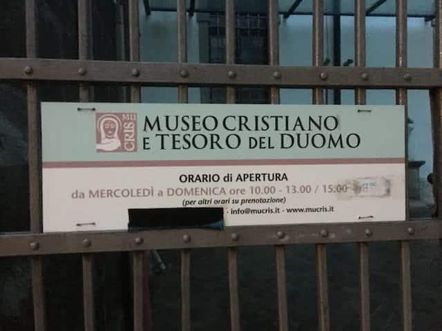 Orari di apertura del museo