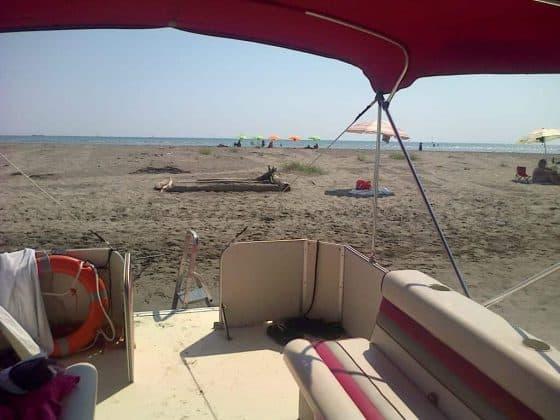 Spiaggia naturale laguna grado