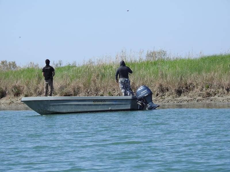 Pescatori nella Laguna di Grado