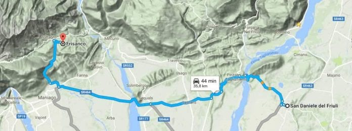 Da San Daniele alla Val Colvera
