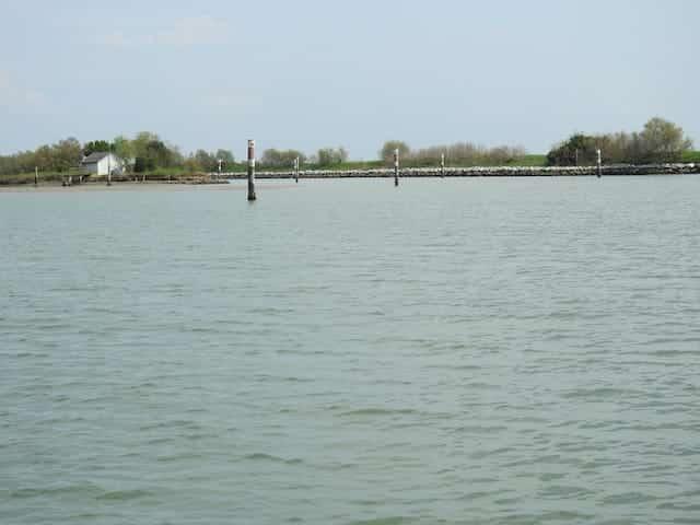 Laguna di grado in barca