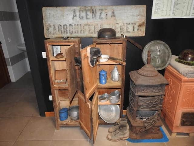 Armadietti dei minatori nel museo