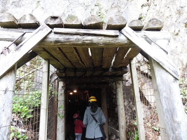 Entrata della miniera di Cludinico