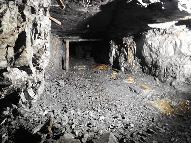 tratto della miniera di cludinico