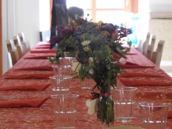 Sala da pranzo dell'agriturismo