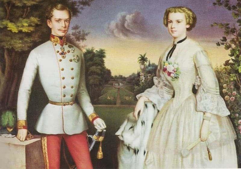 Francesco Giuseppe d'Asburgo e la moglie Sissi