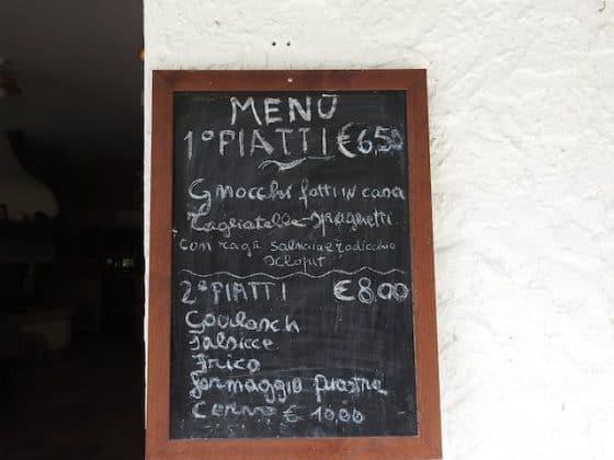 Listino prezzi Trattoria al Fontanon