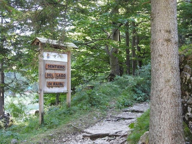 sentiero lago del predil