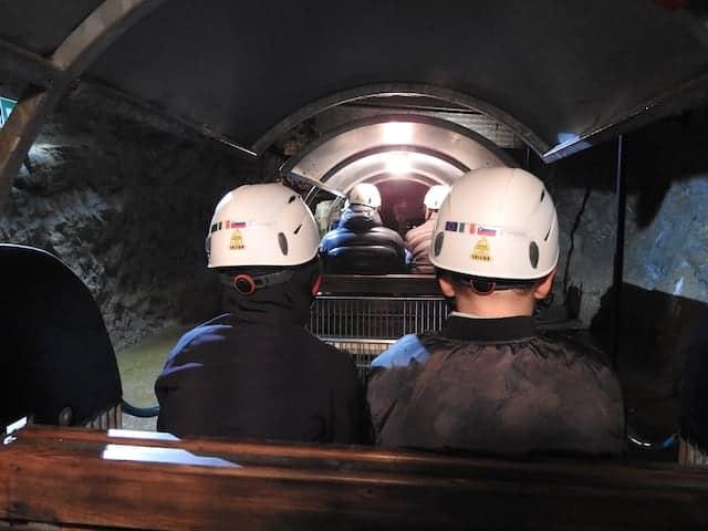 trenino elettrico miniera
