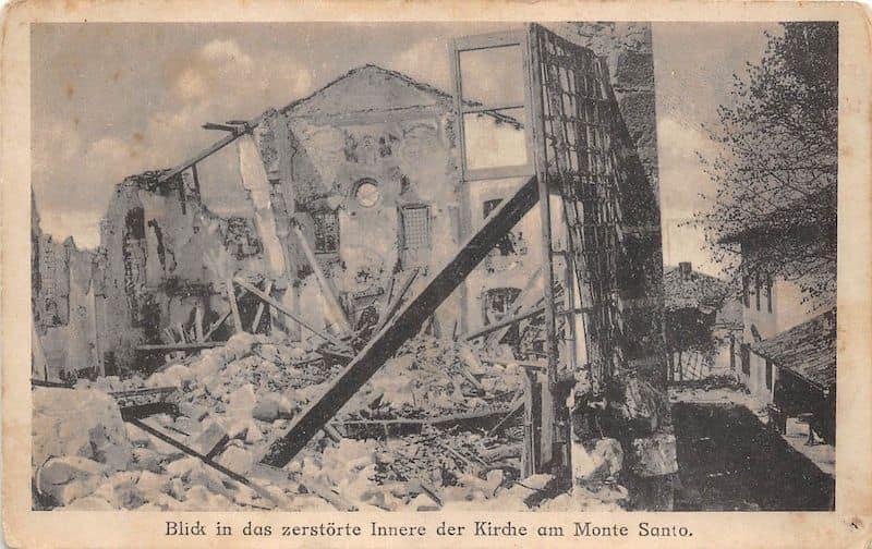 Sveta Gora distrutta 1915