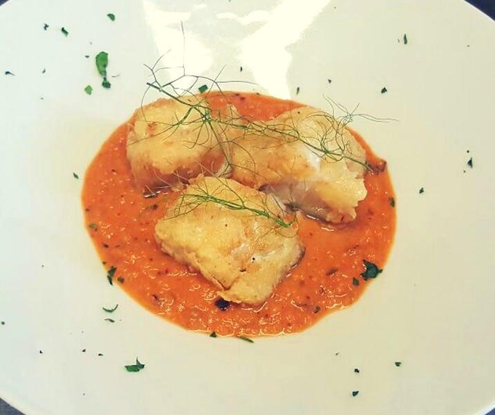 Baccala mit Paprika-Sahne
