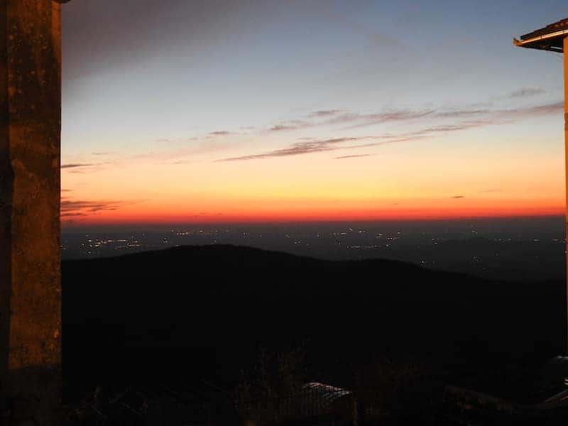 tramonto del sole da Sveta Gora