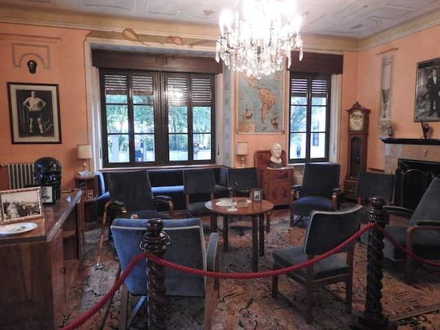salotto villa primo carnera