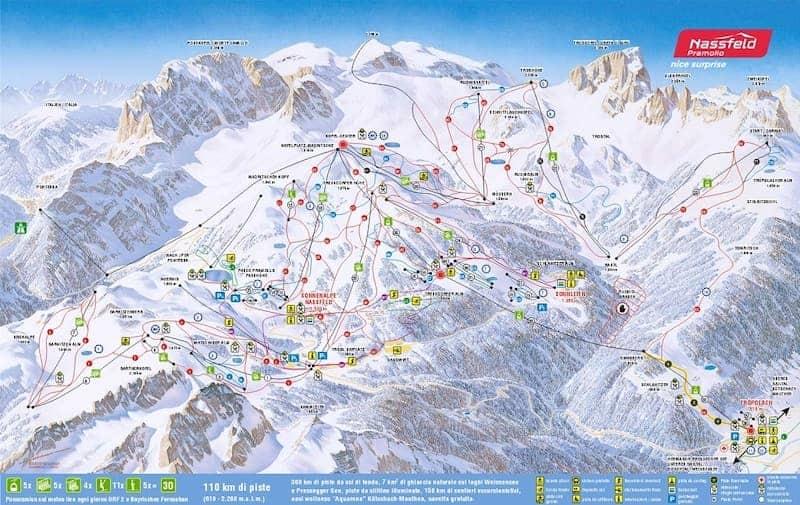 cartina piste neve nassfeld