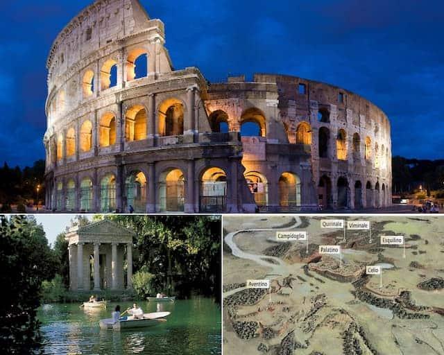 Colosseo 7 colli villa borghese