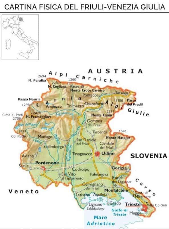 Friuli venezia giulia origine del nome e storia della for Arredamento friuli venezia giulia