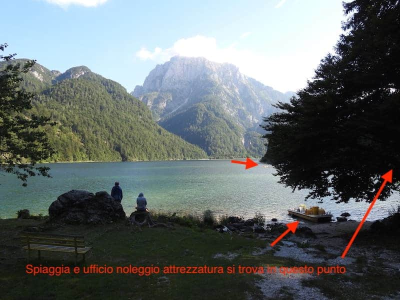 lago del predil in estate