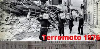 Terremoto 1976 e piazza covid-19 vuota